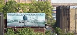 OOH billboard for Academy Award nominated foreign film A Man Called Ove