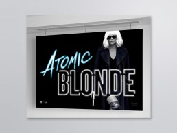 Oversize Cannes banner Atomic Blonde