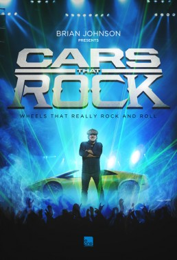 Cars that Rock key art for the EOne reality tv show starring AC/DC's Brian Johnson