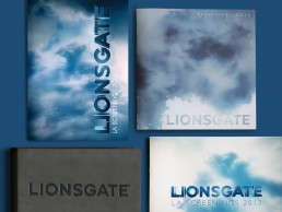 Catalogues designed for Lionsgate for LA screenings