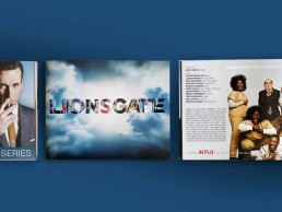 Catalogue cover and inside spread showing Mad Men & Orange is the New Black. Designed for Lionsgate