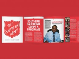 Brochure design for The Salvation Army