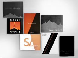Seven Sierra-Affinity film catalogues designed by Greenlight for the international film market at the CANNES film festival
