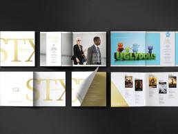 Gold & white design for STX catalogue