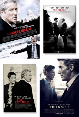 Key art poster exploration for russian spy thriller The Double starring Richard Gere and Topher Grace