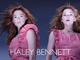 photoshoot with Haley Bennett for horror film key art