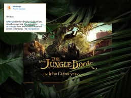 Collateral promotion created for film composer John Debney to show he was perfect to compose the Jungle Book
