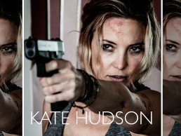 special shoot for action thriller teaser key art starring Kate Hudson