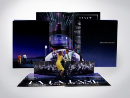 Pop-up brochure designed for LA LA LAND Live-to-Film celebration at the Hollywood Bowl