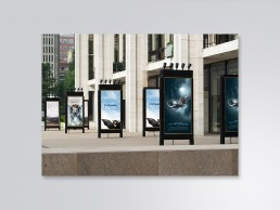 Key art posters designed for Grey Advertising client Canon. On display at Lincoln Center