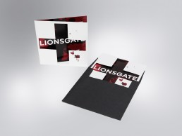 Die-cut invitation for Lionsgate, inspired by the SAW horror films