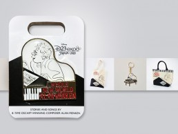 Marketing materials designed for composer Alan Menken