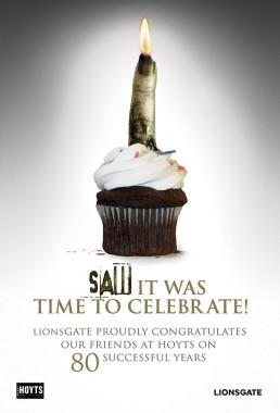 Lionsgate cupcake SAW ad