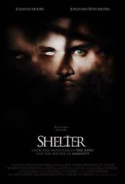 key art for horror film Shelter starring Julianne Moore and Jonathan Rhys Meyers
