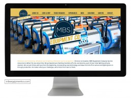 Website design for MBS Equipment