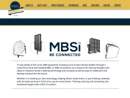 MBS Equipment Co website featuring MBSi