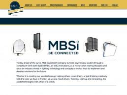 MBS Equipment Co website featuring MBSi