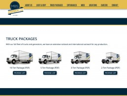 MBS Equipment Co website design
