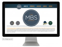 Website design for The MBS Group
