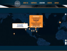 A pop up on the MBS Group website map makes it easy to access other MBS locations.