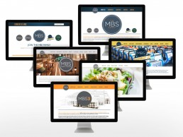 An overview of 6 websites designed for The MBS Group family