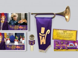 Marketing materials for Willy Wonka & the Chocolate Factory live-to-film presentation at the Hollywood Bowl