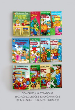 DVD covers for The Berenstain Bears