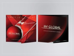 die-cut brochure design for IM Global's Cannes lineup