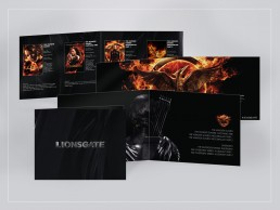 brochure design for Lionsgate, The Hunger Games