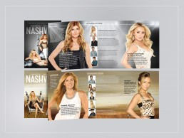 brochures created for seasons 1 & 2 of the hit TV show NASHVILLE