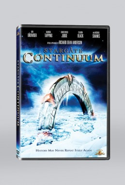 DVD packaging design for STARGATE CONTINUUM