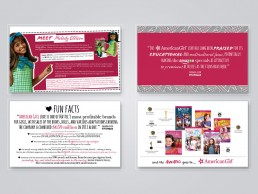 Graphics for Amazon Prime's American Girl sales deck