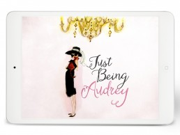 watercolor cover design for the Just Being Audrey pitch deck