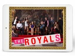 Cover for E! Entertainment's THE ROYALS pitch deck