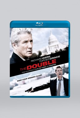 DVD packaging for THE DOUBLE starring Richard Here and Topher Grace