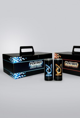 Packaging for Playboy Energy Drink