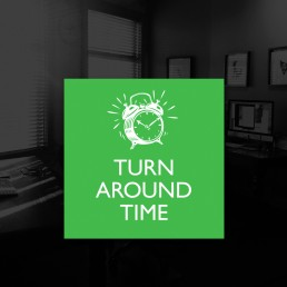 Turn around time for key art posters, sales decks, photoshoots, marketing material, websites, home entertainment design and advertising