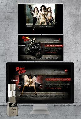 The website design for the film BITCH SLAP won a W3 award