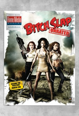 BITCH SLAP artwork featured on the cover of Home Media Magazine