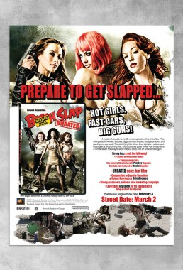 Full page magazine ad promoting the movie BITCH SLAP