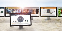 A collection of corporate websites designed for Manhattan Beach Studios (MBS): MBS Equipment, MBS Media Campus, MBS3, MBS Group