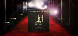 Columbia Pictures Best Picture Collection box set design shown on red carpet